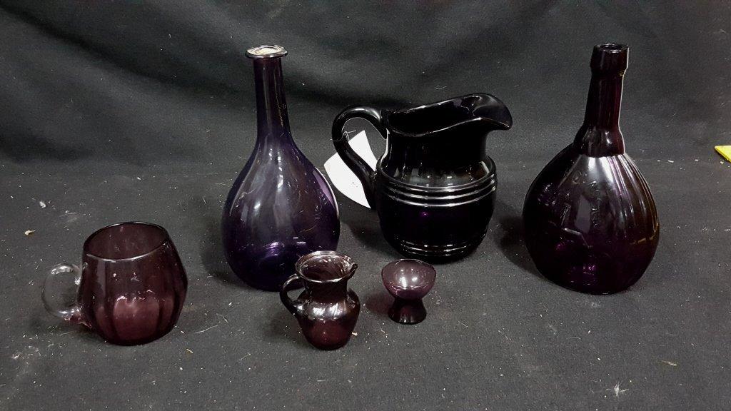 Jenny Lind Amethyst Glass Bottle & More