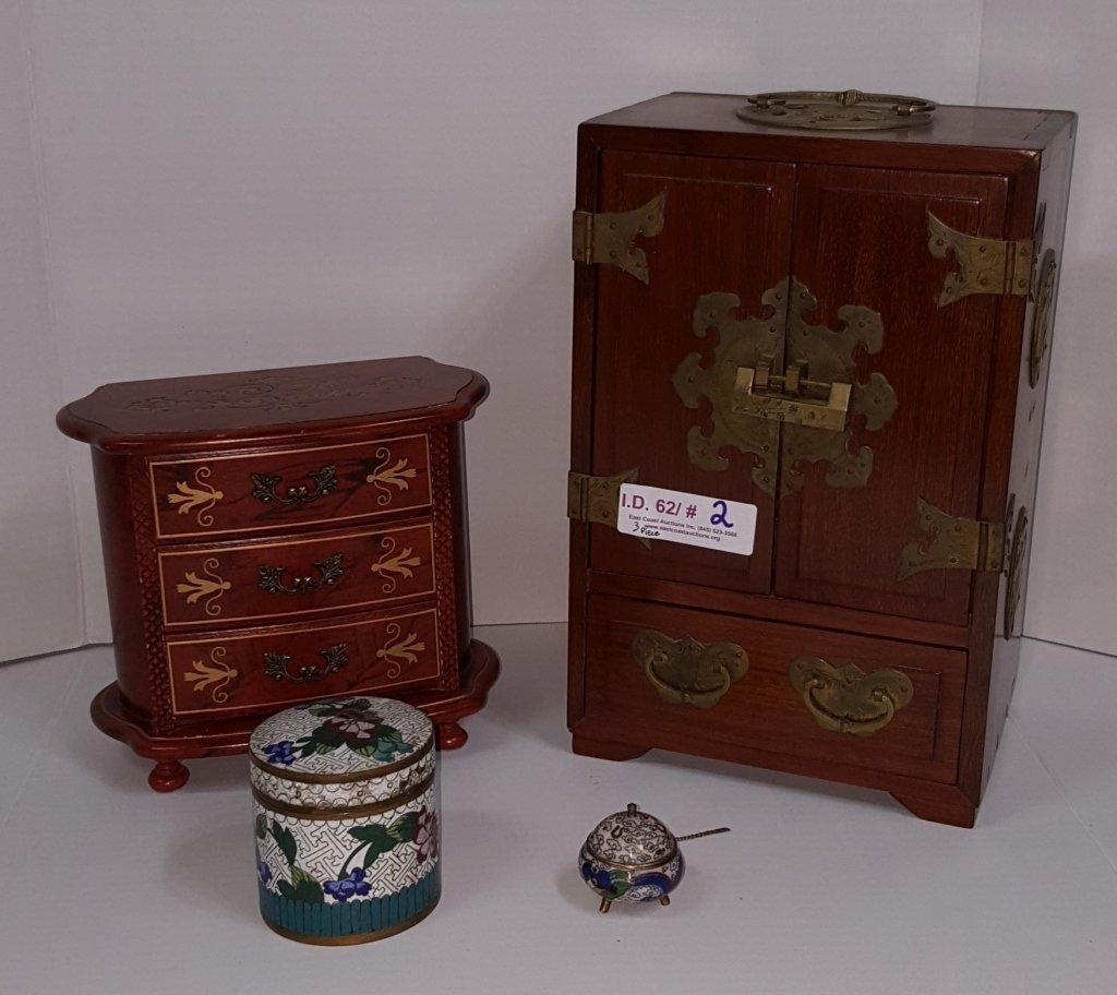 Chinese Jewelry Box With Lock & Key &.....