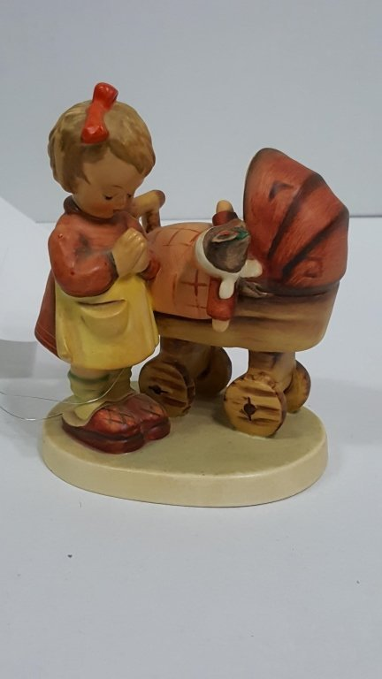 Hummel 67; Girl Praying with Baby in Stroller