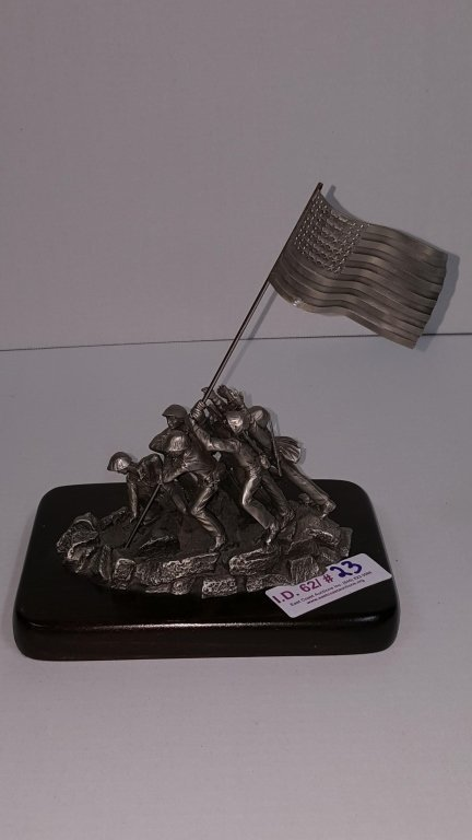 """Pewter Sculpture """"Victory at Iwo Jima"""""""
