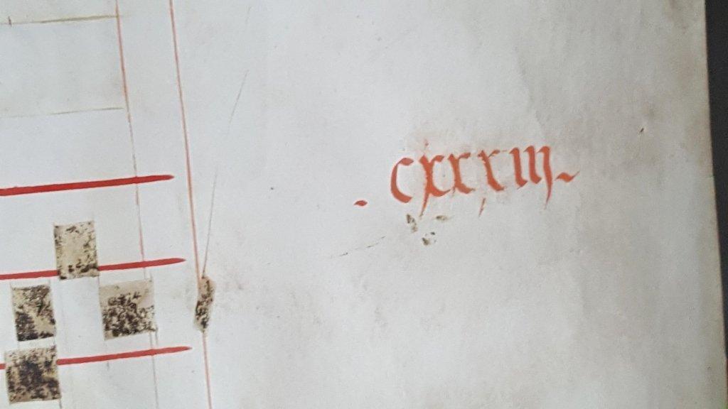 Manuscript Antiphonal Page on Vellum - 2