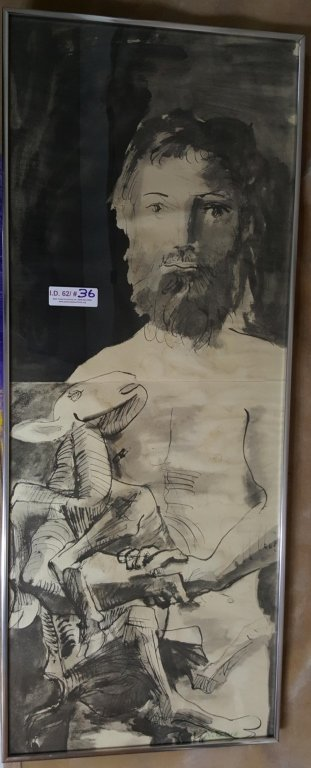 """Signed Picasso """"Man With Goat"""""""