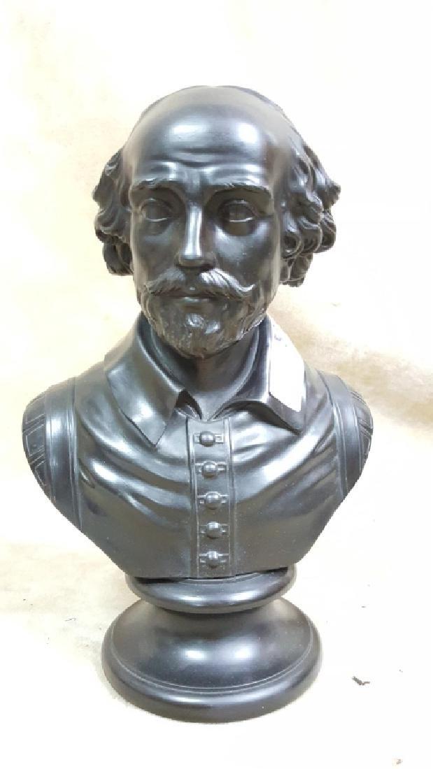 William Shakespeare; A Wedgwood Basalt Bust