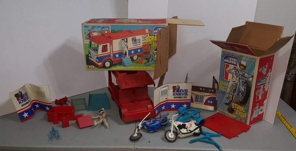 Evel Knievel Ideal Toy Lot