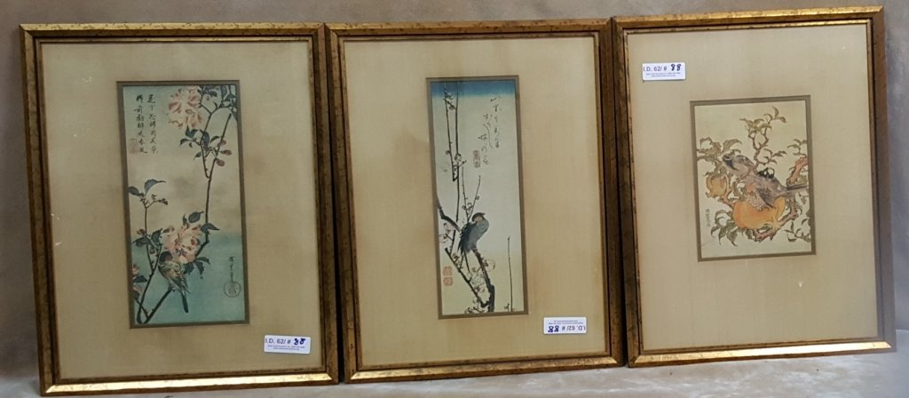 Group of 4 Decorative Japanese Woodblock - 2