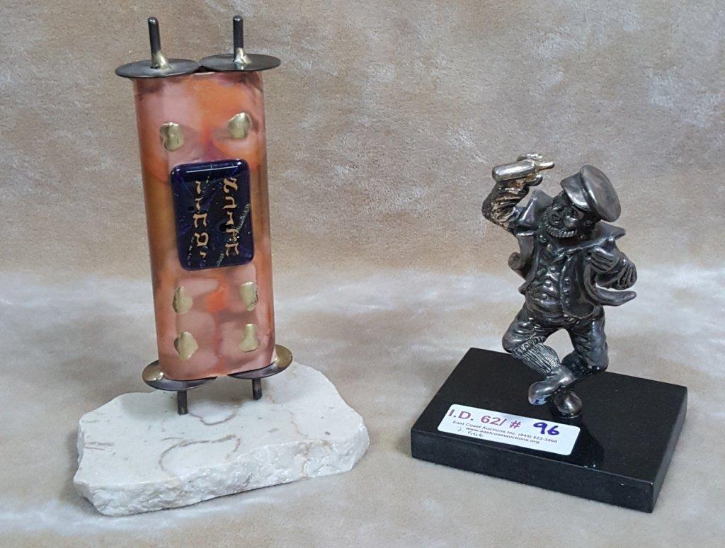 Ben Zion Sterling Figurine & Bronze Judaica Candle