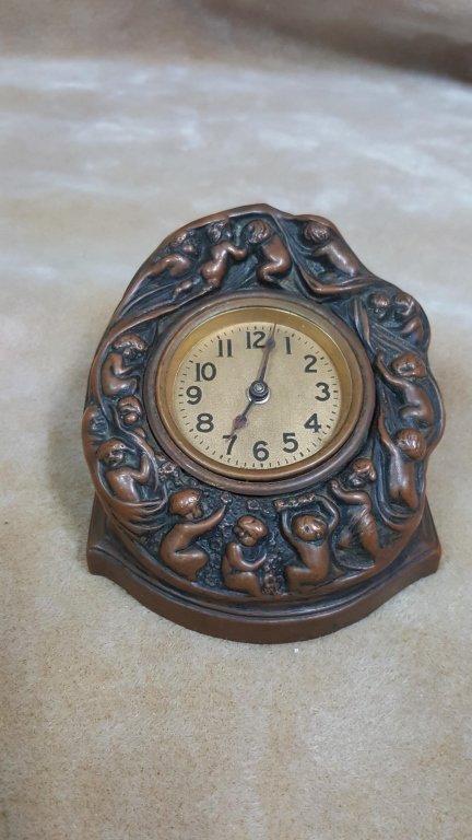 Unsusal Sleeping Babies Bronze Desk Clock