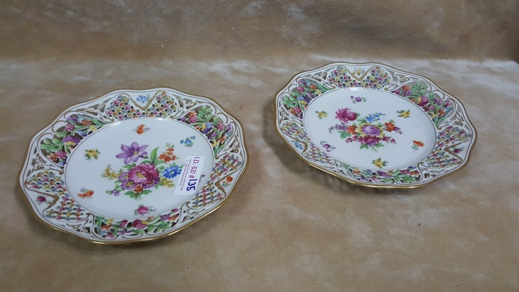 Schumann Bavaria Dresden Porcelain Plates