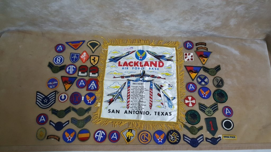 Patch Collection & Air Force Silk Souvenir / Poem