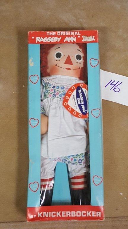 A Vintage Raggedy Ann Doll In Box