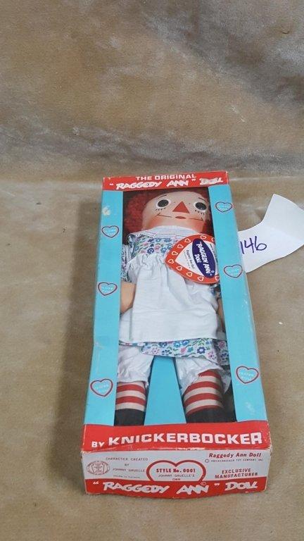A Vintage Raggedy Ann Doll In Box - 5