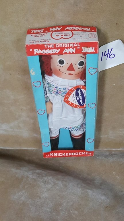 A Vintage Raggedy Ann Doll In Box - 7