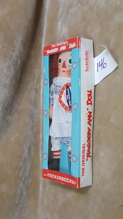 A Vintage Raggedy Ann Doll In Box - 8