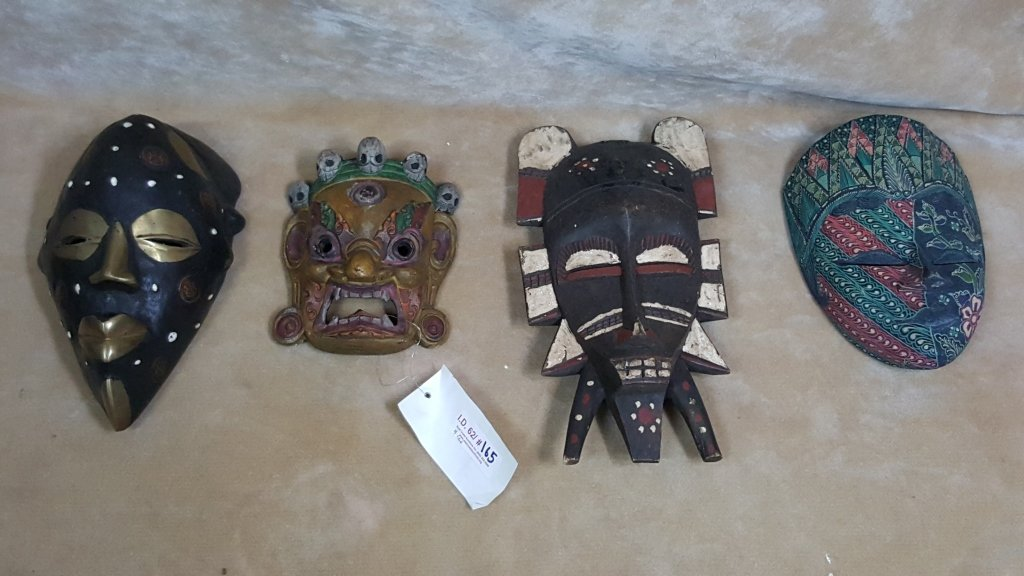 Carved and Painted Tribal Masks