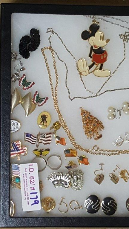 Designer Gold Tone Enameled Earrings & More - 2