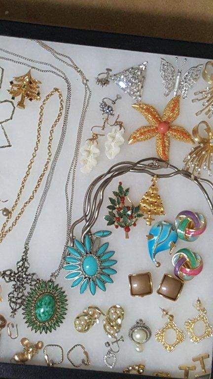 Designer Gold Tone Enameled Earrings & More - 3