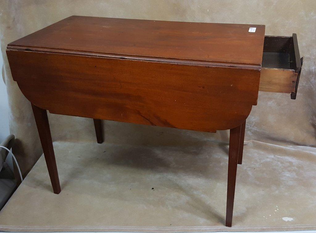 Antique Side Flip-Top Table