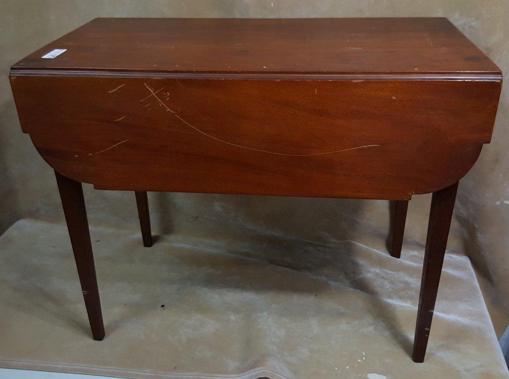 Antique Side Flip-Top Table - 2