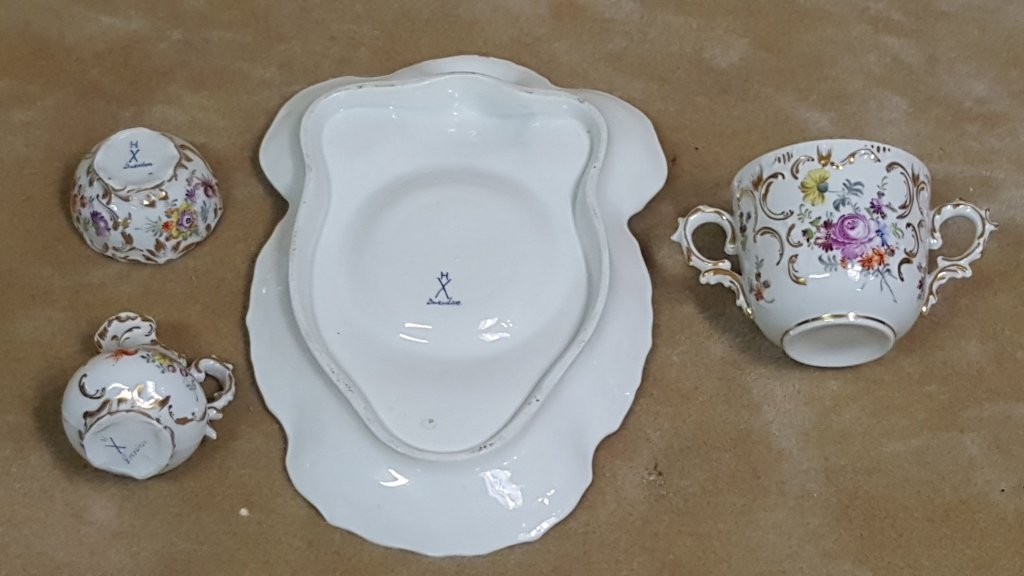 Dresden Porcelain Tea Set - 2