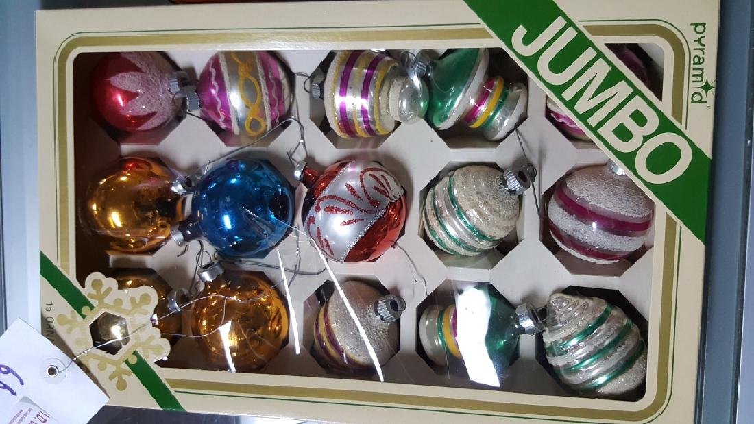 Shimmering Boxes Of Glass Christmas Ornaments - 2
