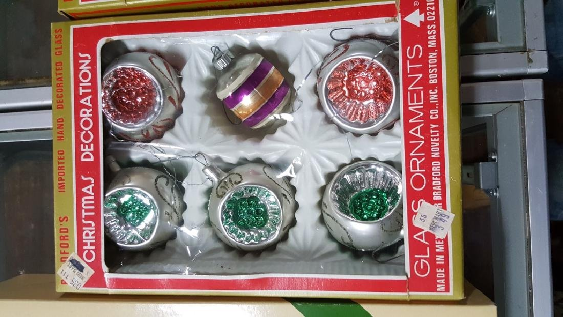 Shimmering Boxes Of Glass Christmas Ornaments - 3