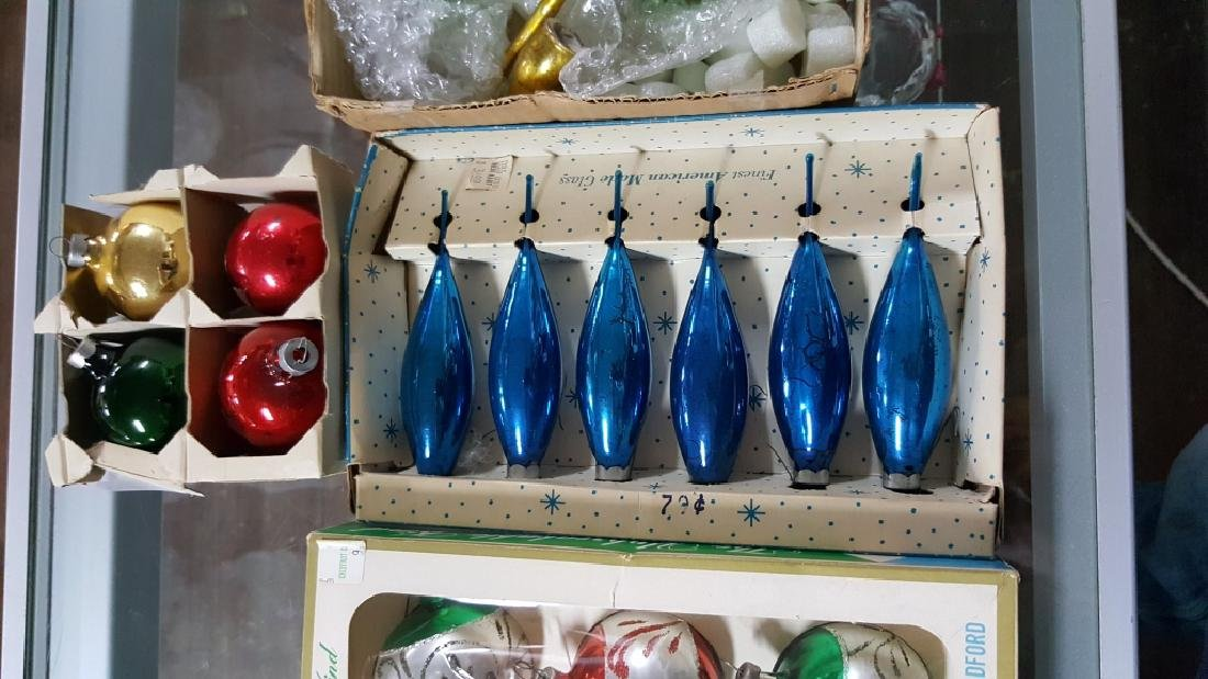 Shimmering Boxes Of Glass Christmas Ornaments - 6