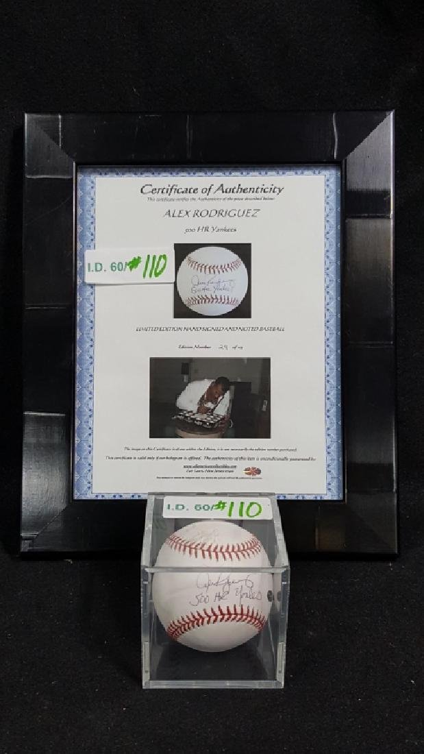 "NY Yankees Alex Rodriguez ""500 Home-Run"" Autograph"