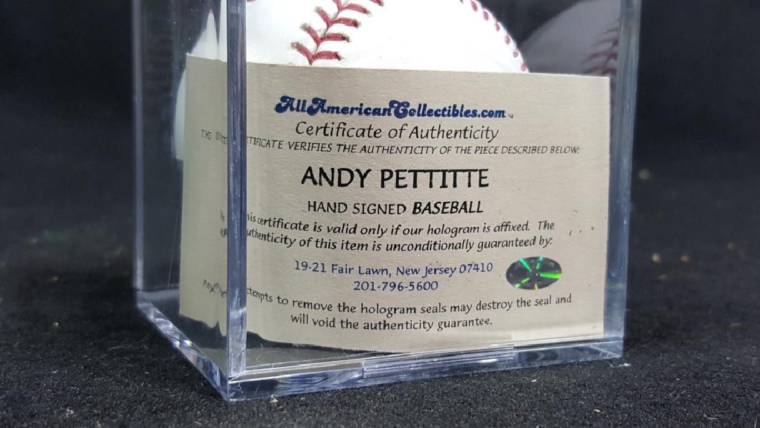 NY Yankees Andy Pettitte Autographed Baseball - 2