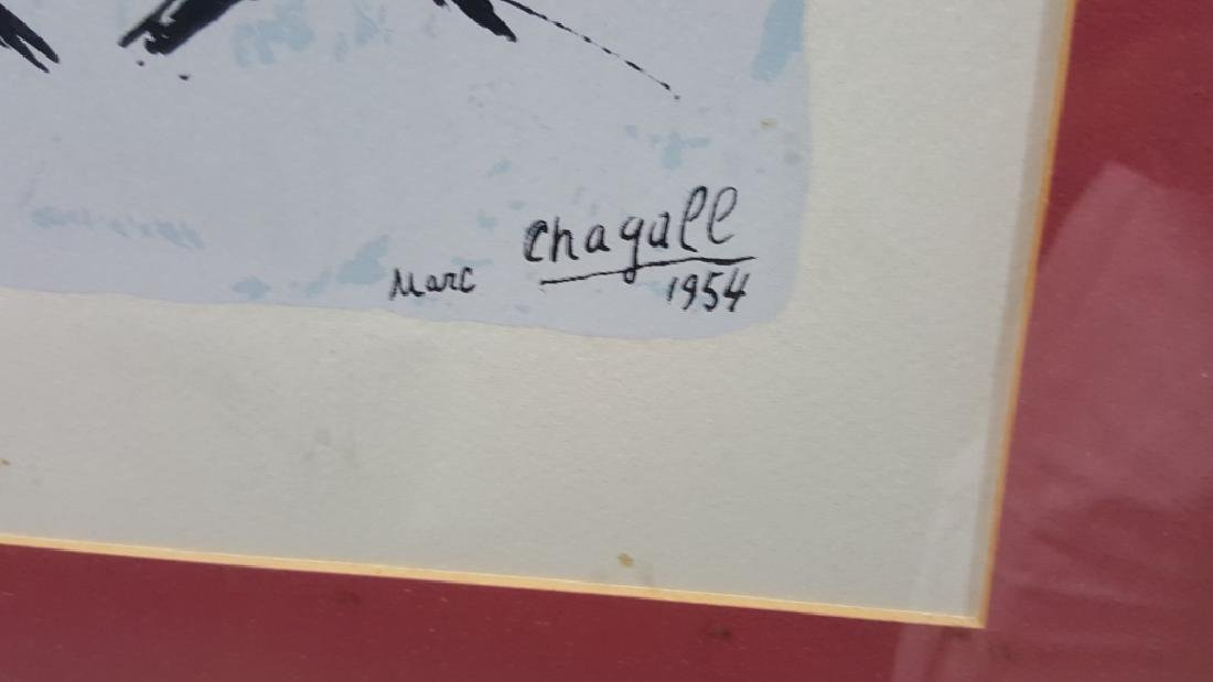 Marc Chagall Lithograph 1954 Vence 173/350 - 4