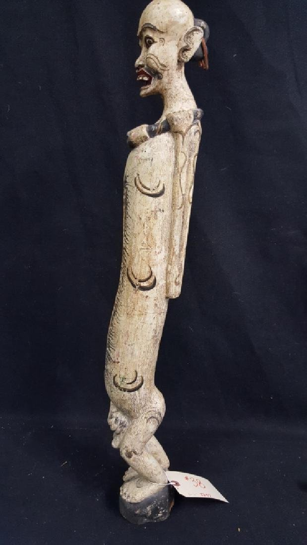 Carved Indonesian Figure. Drum figure - 2