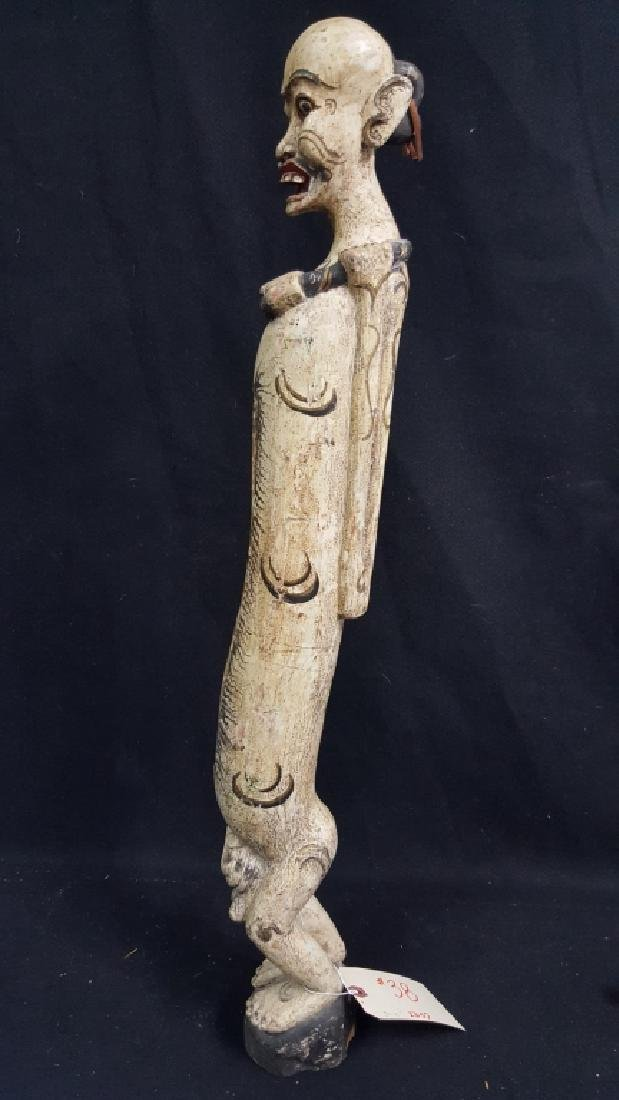 Carved Indonesian Figure. Drum figure - 3