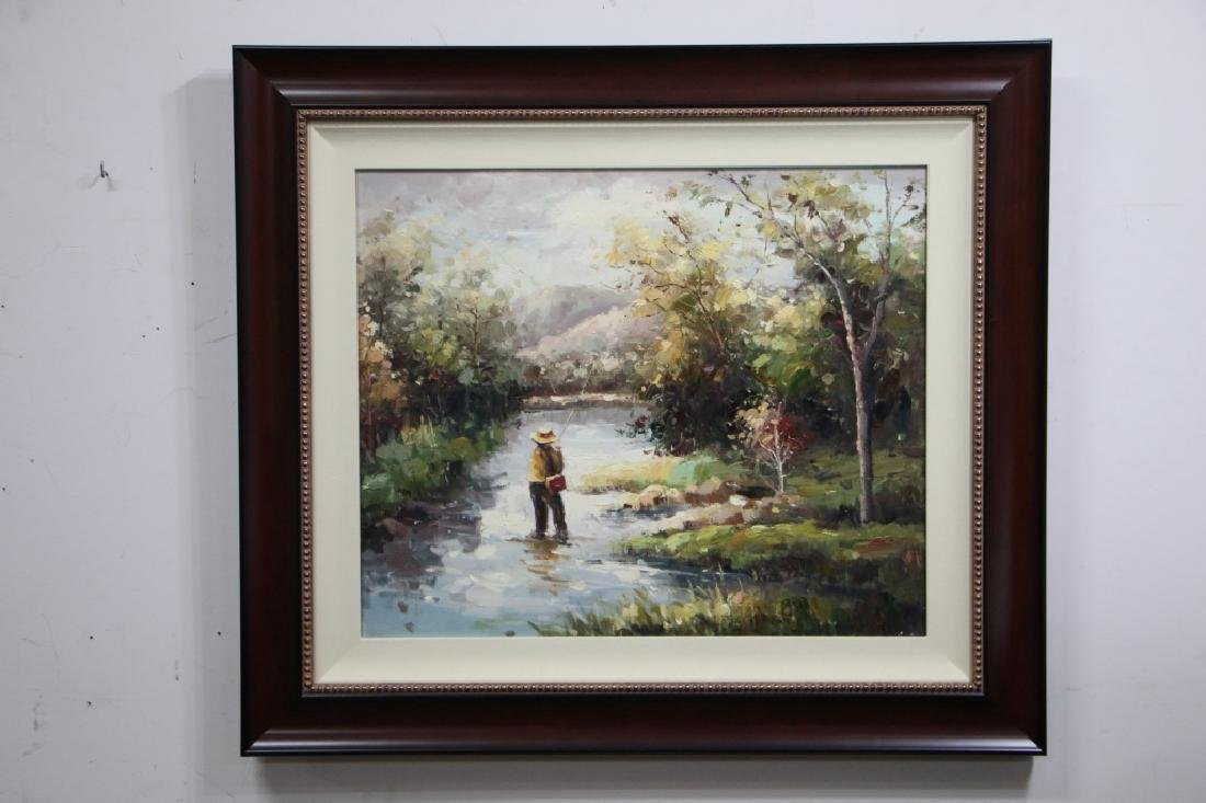 Fly Fishing Oil on Canvas - 2