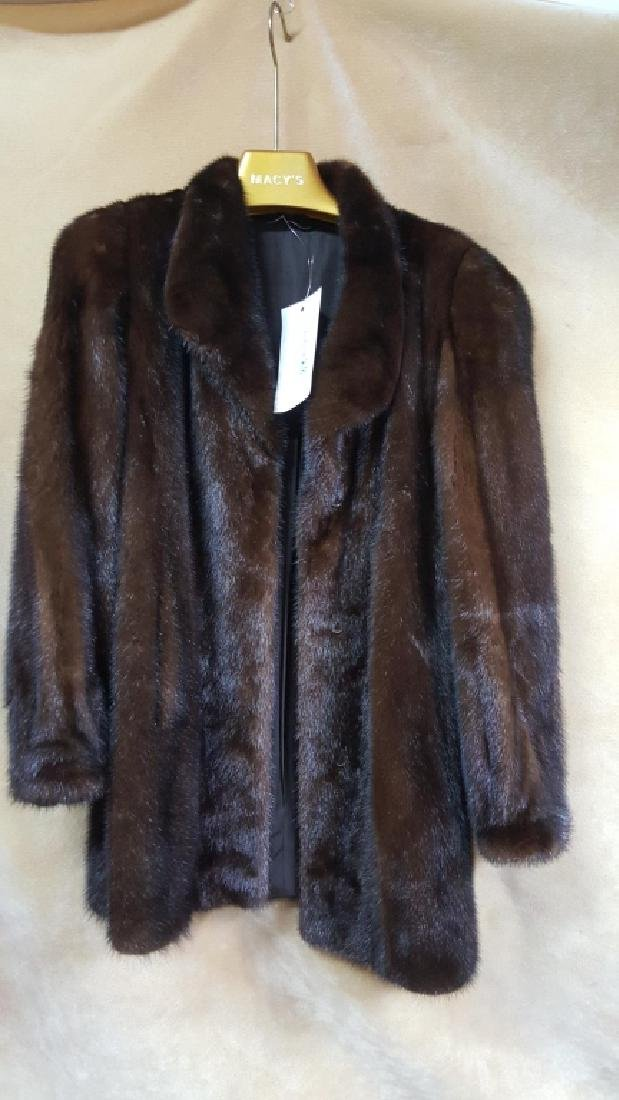 3/4 Length Dark Brown Mink Coat