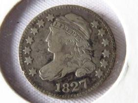 1827 CAPPED BUST SILVER 10 CENT PIECE