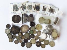 LOT ASSORTED SILVER CANADIAN COINS FACE VALUE $21.33
