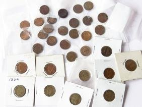 LOT (31) INDIAN HEAD CENTS INCL. UNC-EF VG