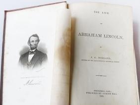 "VOL ""ABRAHAM LINCOLN"" J.G. HOLLAND PUB. 1866"