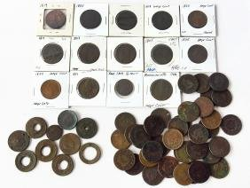 (52) LARGE CENTS VARIOUS DATES & CONDITIONS