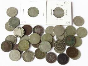 LOT ASSORTED LIBERTY HEAD NICKELS FACE VALUE $1.75