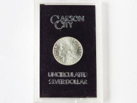 1884 CARSON CITY UNC SILVER DOLLAR CASED