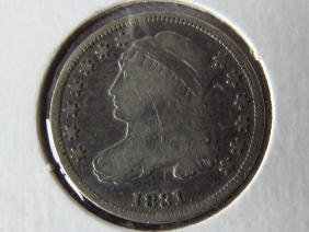 CAPPED BUST SILVER 10 CENT PIECE 1831