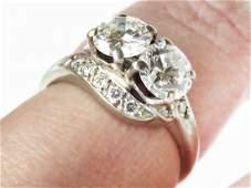 FINE 14K W.GOLD/1.9 CT DIAMOND RING; UGL CERTIFICATE