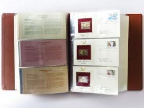 GOLDEN REPLICAS OF US STAMPS PROOF REPLICAS BOOK