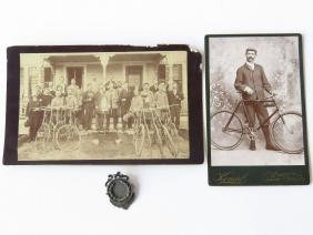 4 VINTAGE CABINETS CARDS; CYCLING, BICYCLE & STERLING