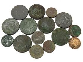 ASST EXCAVATED/COINS; LARGE CENTS, PENNIES, NICKELS
