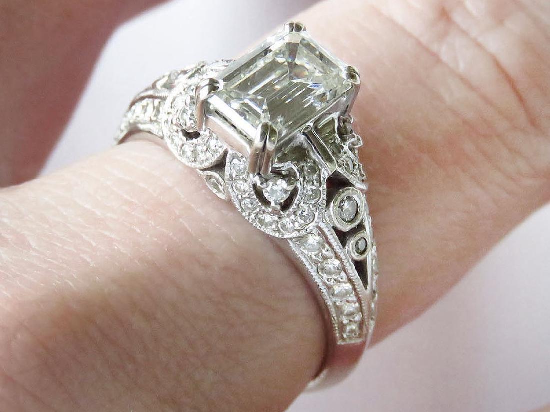 14K/PLAT/DIAMOND FILIGREE WEDDING/ENGAGEMENT RING