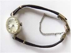 LE COULTRE 14K GOLD/DIAMOND LADIES WRISTWATCH 1960