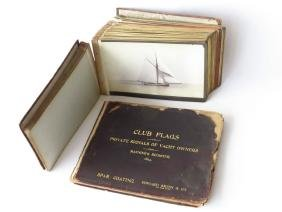 56 RARE BOUND VOLUME CABINET CARDS INCL. YACHTS