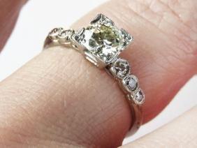 ART DECO PLATINUM/DIAMOND RING W/ 7 DIAMONDS