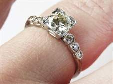 ART DECO PLATINUMDIAMOND RING W 7 DIAMONDS